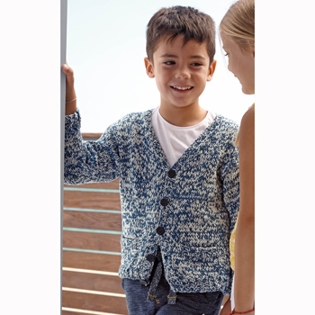 Gilet Duo Cotton (27) Catalogue n°77 Enfant (Katia)