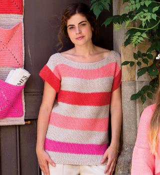 Pull Bulky Cotton (73) Catalogue Katia Débutant n°3 Eté 2015