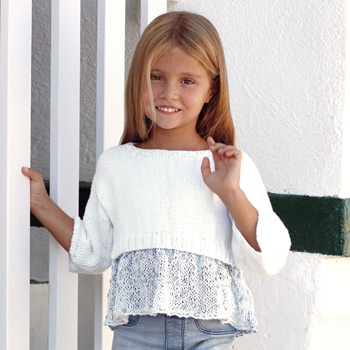 Pull Malibu & Cotton 100% (10) Catalogue n° 81 Enfant (Katia)