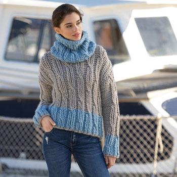 Pull court col boule Love Wool (16) Catalogue Katia n°90 Sport