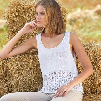 Débardeur Silk Cotton (50) Catalogue Katia n°81 Eté 2015