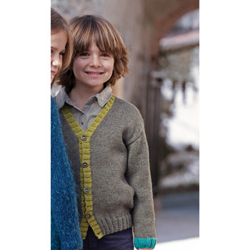 Gilet Basic Merino (26) Catalogue n°75 Enfant (Katia)