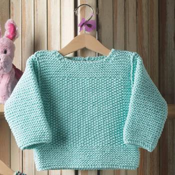 Pull Bulky Cotton (38) Catalogue Katia Bébé n° 72 Eté 2015