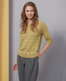 Pull manche Longue Cotton Yak (09) Catalogue concept n°5 Katia