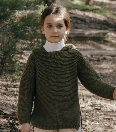 Pull enfant Merino Tweed (07) Catalogue Easy n°9 Katia