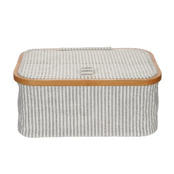 Box Canvas & Bamboo pliable gris-prym