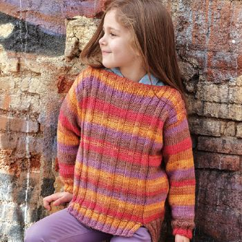 Pull Merino Aran Plus (06) Catalogue n° 71 Enfant (Katia)